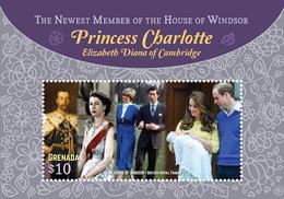 Grenada 2016 Princess Charlotte ,  Queen Elizabeth II , Princess  Diana , Prince William - Grenada (1974-...)