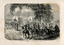 1862 Print USA John Doy And 13 Freedom Seekers Are Apprehended By Slave Catchers - Prints & Engravings