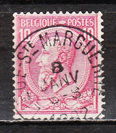 46  Oblitération Centrale LIEGE (STE MARGUERITE) - LOOK!!!! - 1884-1891 Leopold II