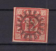 Ziffer 12 Kr. Mit Mühlradstempel 272 (= Langenkandel) - Bavaria