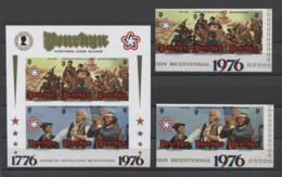 Penrhyn US Bicentennial American Revolution 1976 Mi#73-78B Bl#2B MNH - Us Independence