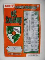Lottery Ticket Lithuania Sport Basketball Team Zalgiris Kaunas - Lottery Tickets