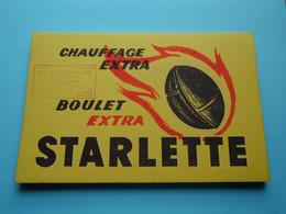 Buvard STARLETTE ( Chauffage Extra Boulet ) Avec CACHET > BELFORT > ( Format +/- 21 X 14 Cm. ) Voir SCAN Svp ! - S