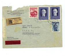 Österreich, 1948, Reko-Briefkuvert Frankiert Mit 2x1S/Renner Blau (MiNr.927), 30grTrachten Rot Und 10gr/Trachten (11496W - 1945-60 Brieven