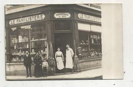 Cp, Carte Photo , Commerce , Magasin ,LE FAMILISTERE , Succursale N° 500 , écrite De Douai - Shops