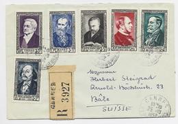 FRANCE SERIE SURTAXE THIERS LETTRE REC CANNES 25.10.1952 POUR SUISSE - 1921-1960: Modern Period