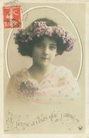 Grete Reinwald - Jolie Portrait Fillette - Couronne De Fleurs      Z 281 - Portraits