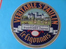Etiquette De Saint Paulin Le Ligonnais Laiterie Ducouret Frères Yvrac Et Malleyrand Charente 16 - Cheese