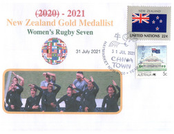 (WW 5 A) 2020 Tokyo Summer Olympic Games - New Zealand Gold Medal - 31-07-2021 - Women's Rugby Seven - Eté 2020 : Tokyo