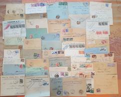 Tunisie - Lot De 50 Lettres - DEPART 1 EURO - AFFRANCHISSEMENTS Et OBLITERATIONS - Covers & Documents
