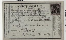 Carte Précurseur+type Sage, Famille Des Montgolfier à Annonay, Signature Frères Montgolfier,100ans Après Le 1er Vol,1883 - 1876-1898 Sage (Tipo II)