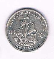 10 CENTS 1987 EAST CARIBBAEN STATES /6354/ - West Indies