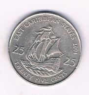 25 CENTS 2004 EAST CARIBBAEN STATES /6355/ - West Indies