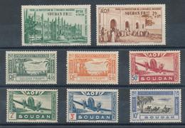 Soudan  Lot De 8 Timbres De Poste Aérienne* - Unused Stamps