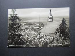 Österreich 1948 Salzburger Dom Nr. 886 MiF Mit Nr. 869 Und 904 Echtfoto AK Bregenz Pfänderbahn Mit SST Festspielstadt - 1945-60 Brieven