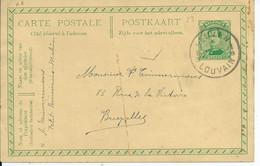 5c-postkaart - Afstempeling LEUVEN 1 B-B Zonder Datummidden - Fortune Cancels (1919)