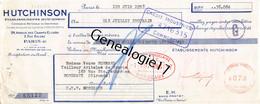 75 24516 PARIS SEINE 1931 Caoutchouc HUTCHINSON Champs Elysees USINE A LANGLEE Et PUTEAUX Dest VEUVE BERNARD - Bills Of Exchange