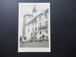 Österreich 1945 / 47 Echtfoto AK Freimarken MiF Landschaften Nr. 744 Und 747 Stp. L1 Finanzamt St. Pölten - 1945-60 Brieven
