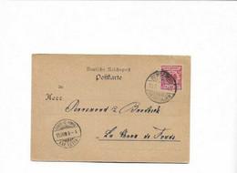 Karte Aus Remscheid In Die Schweiz 1900 - Cartas