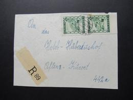 1946 / 47 Briefstück Mit Provisorischem / Not R-Zettel Gestempel Grakorn Mit Landschaften Nr. 751 Senkr. Paar Unterrand - 1945-60 Brieven
