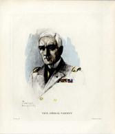 Print 1920 France Fleet French Navy Admiral Amiral Georges Varney Grand Officier De La Légion D'honneur - Prints & Engravings