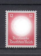 Deutsches Reich Dienst D 172a Ohne WZ Einzelmarke 12 Pf Postfrisch - Oficial