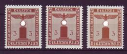 Deutsches Reich Dienst D 156 Ohne WZ EZM 3 Pf ** 3 Verschiedene Farbnuancen - Oficial