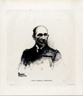 Print 1920 France Fleet French Navy Admiral Amiral Henri Frochot - Prints & Engravings