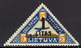Litauen / Lietuva, 1922,  Mi 186 *, Flugpost / Air Mail [020821VI] - Lithuania