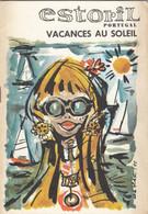 Estoril Portugal  - Vintage Brochure Touristique Calendrier 1971 - Tourism Brochures