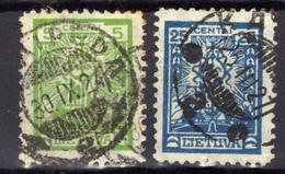 Litauen / Lietuva, 1923,  Mi 210; 213, Gestempelt [280118XXII] - Lithuania