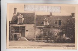 """CPA  - 36 - SAUZELLES (Indre, 250 Hab) - CAFE """"Au Rendez-vous Des Touristes"""" Bières CRILLON Et De CHATEAUDUN - RARE - - Other Municipalities"""