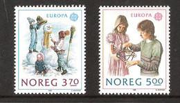 Norway Norge 1989 Europa: Children Games Mi 1019-1020 , MNH(**) - Nuovi