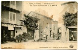 Rémuzat - La Place, La Fontaine Et La Mairie   -  Voir Scan - Autres Communes