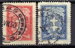 Litauen / Lietuva, 1930,  Mi 291-292, Gestempelt [020821VI] - Lithuania