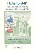Norway Norge 1981 Hafrsfjord 1981 National Stamp Exhibition Souvenir Sheet - Cancelled 11.6.1981 - Blocchi & Foglietti
