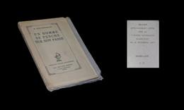 [Prix GONCOURT ENVOI DEDICACE] CONSTANTIN-WEYER (Maurice) - Un Homme Se Penche Sur Son Passé. EO Sur Papier Bleu. - Libri Con Dedica