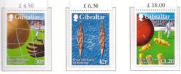 PIA - 1999 - Centenari Sportivi Di Gibilterra -  (Yv. 891-93) - Gibilterra