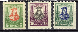 Litauen / Lietuva 1930 Mi 295; 299-300 * [020821VI] - Lithuania