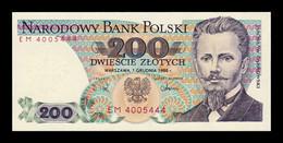 Polonia Poland 200 Zlotych 1988 Pick 144c SC UNC - Polonia