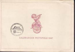 Austria Sonderstempel Salzburger Festspiele 1947 Folded Card Mi. 791-809 Wiederaufbau Stephansdom Wien Complete Set - 1945-60 Brieven