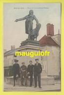 10 AUBE / ARCIS SUR AUBE / STATUE DU CONVENTIONNEL DANTON / ANIMÉE / 1904 - Arcis Sur Aube