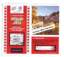 Ticket - Tour De France / E.Leclerc - PACA (2021) Jeu Fini - Obsolète - Lottery Tickets