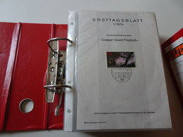 Bund Ersttagsblätter 1974-84 Komplett In 2 Ordnern (17839) - Sammlungen