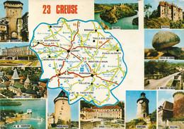23 -Carte Contour Géographique Du Département De CREUSE - Cartes Géographiques