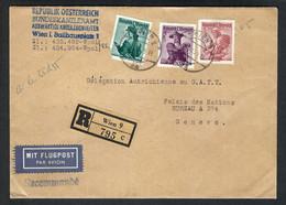 AUTRICHE 1955: LSC Rec. De Vienne Pour La Suisse - 1945-60 Brieven