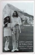 PIA - 1999 - 30° Anniversario Del Matrimonio Di John Lennon Con Yoko Ono -  (Yv. Bf 33-34) - Gibilterra