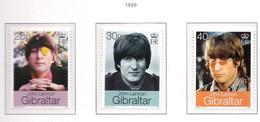 PIA - 1999 - 30° Anniversario Del Matrimonio Di John Lennon Con Yoko Ono -  (Yv. 872-74) - Gibilterra
