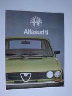 Automobilia,plaquette Publicitaire Alfa-Romeo Pour L'ALFASUD Ti - Automovilismo