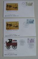 Enveloppes Premier Jour :  Journée Du Timbre (1988 / 1987 /) ( Les 3 ) - Día Del Sello